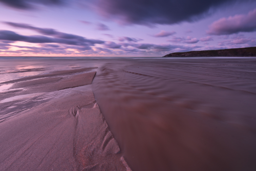 A purple road